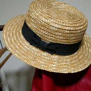 Straw bowler hat hipster